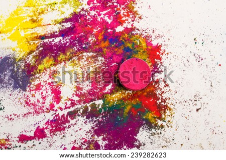 Abstract background made of colorful Indian dyes - stock photo