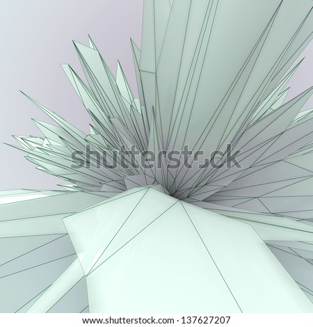 abstract background made of dynamic triangular shapes - stock photo