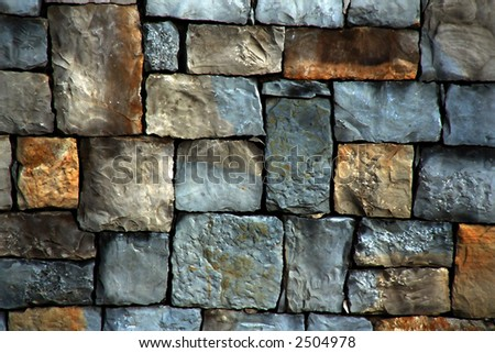 Abstract background made with aged stone - stock photo