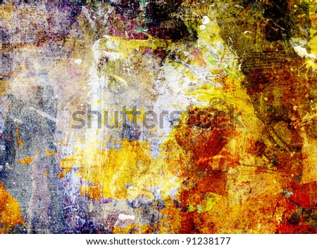 abstract background - mixed media grunge - stock photo