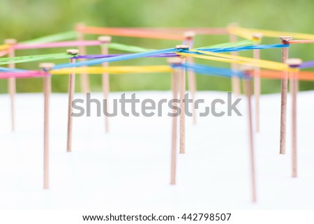 Abstract background networking,social media concept, internet communication concept,link concept, - stock photo