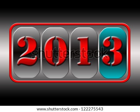 abstract background New Year counter, 2013, - stock photo