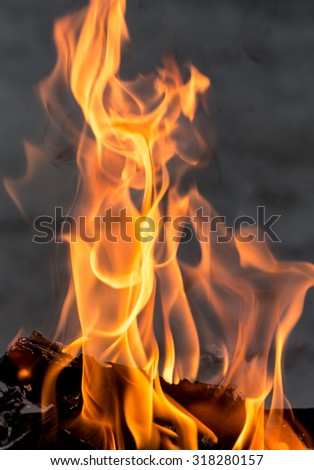 abstract background of a flame of fire - stock photo