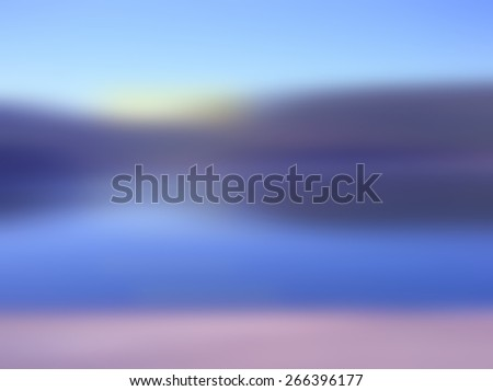 abstract background of a sunrise on the river. - stock photo