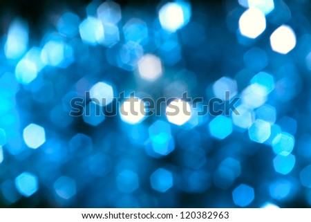 Abstract background of blurry unfocus lights (hexagonal) - stock photo