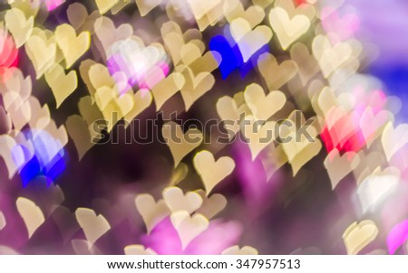 Abstract background of bokeh for christmas background.(soft blur) - stock photo