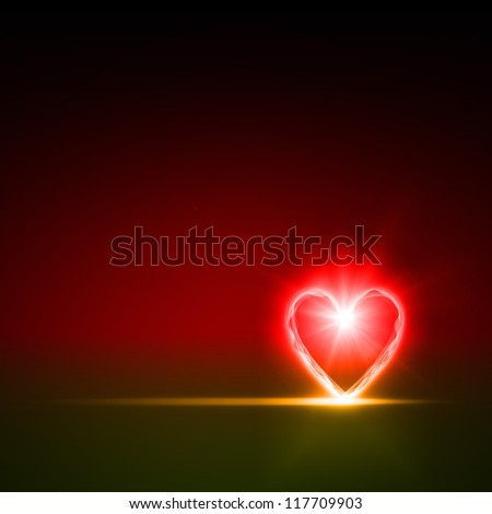 abstract background of color heart - stock photo