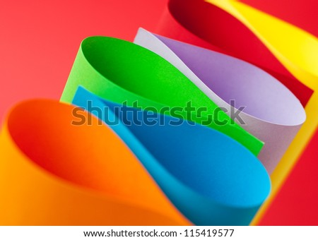 Abstract background of color paper - stock photo