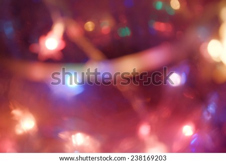 Abstract background of colourful Christmas bokeh lights, colorized image - stock photo