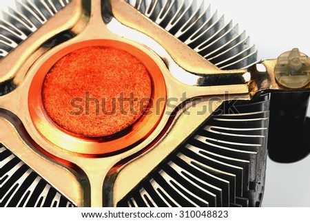 abstract background of cpu cooler, process color. - stock photo