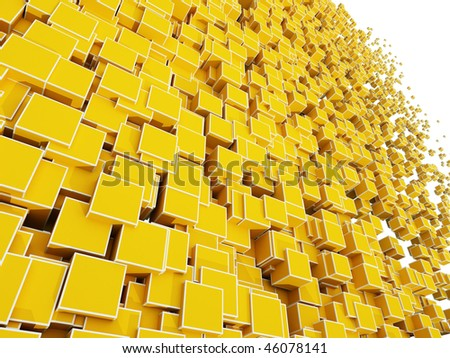 Abstract background of 3d blocks cubes - stock photo