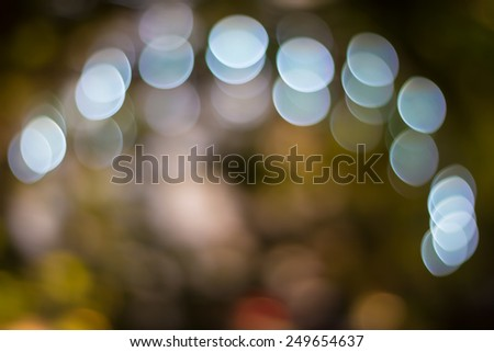 Abstract Background of Defocused  Festival Decorations And White Lights - stock photo