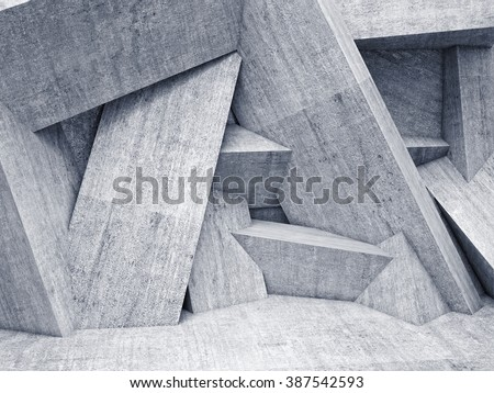 abstract background of geometric wall - stock photo
