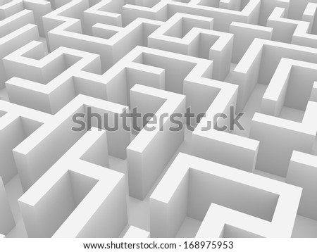 Abstract background of labyrinth - stock photo