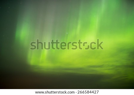 Abstract background of northern lights (Aurora borealis) - stock photo