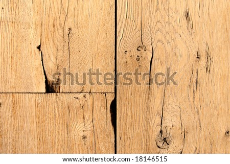 Abstract background of old wooden cracked planks - stock photo