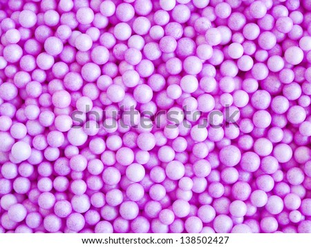 Abstract background of purple balls - stock photo