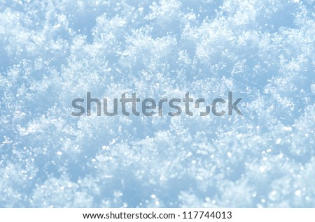 Abstract background of shiny snow - stock photo
