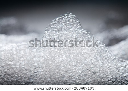 Abstract background of soap foam, suds, shower. soft focus, macro view - stock photo
