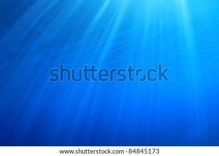 Abstract Background of Sun Rays underwater - stock photo