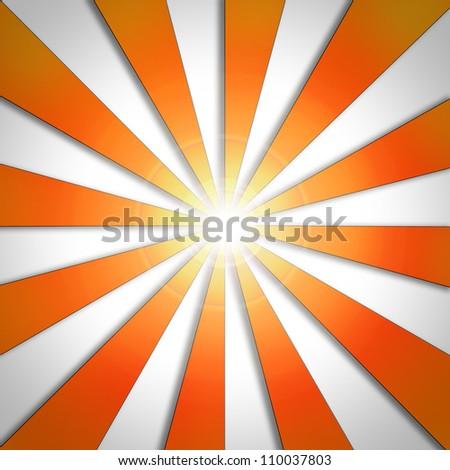 abstract background of sunburst - stock photo
