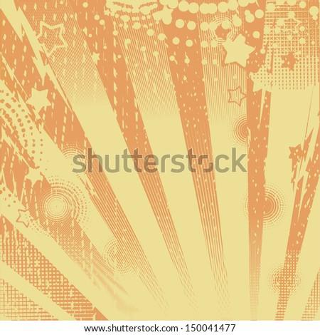 abstract background orange - stock photo