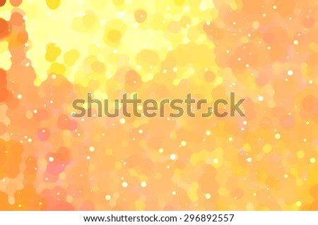 abstract background orange bokeh circles. Beautiful background with particles. - stock photo