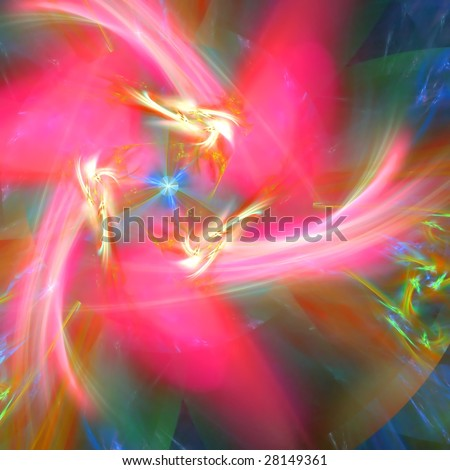 Abstract background. Pink - yellow palette. Raster fractal graphics. - stock photo