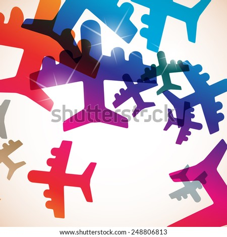 abstract background: plane - stock photo