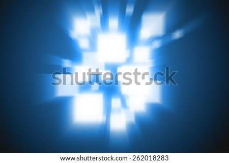 Abstract background rays blue colour - stock photo