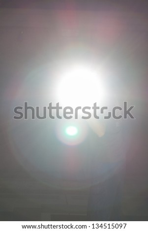 Abstract Background - rays of white color with big bombs. - Flash - stock photo