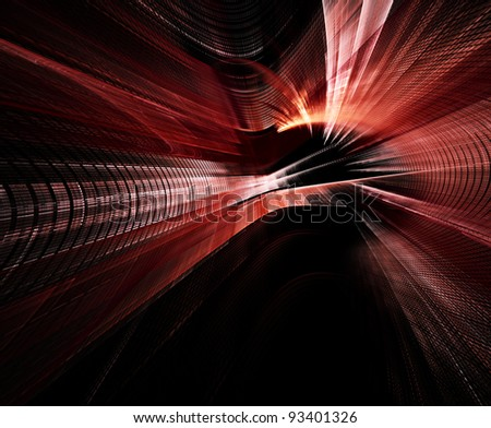 Abstract background red and black - stock photo