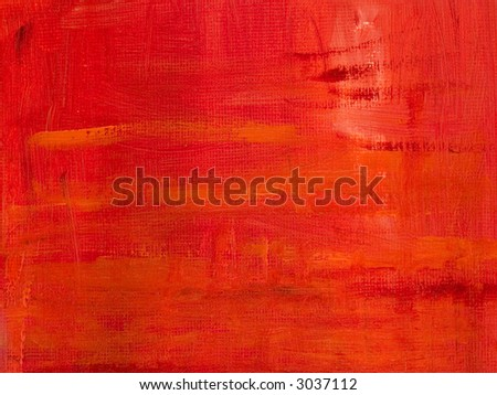 Abstract background - Red oil painted canvas - stock photo
