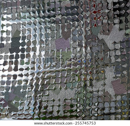 abstract background resembles molten metal. (hand digital painting). - stock photo