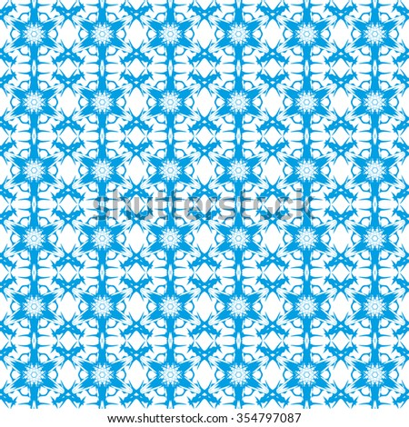 Abstract background. Seamless pattern. A winter background - the stylized frosty pattern at windows, a pattern from snowflakes, a pattern for festive cards, for paper and fabric. - stock photo