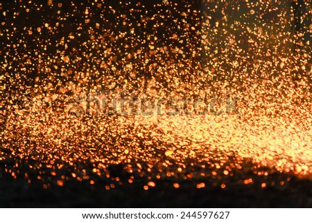Abstract background, Tending the fire spread from the scarf slab. - stock photo