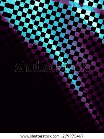 "Abstract background, texture of a checkered flag. Pattern for topics race, rally, car, automobile races. Grungy texture, is ""dirty"" and some ""graininess"". - stock photo"