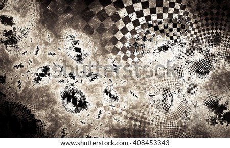 """Abstract background, texture of a checkered flag. Pattern for topics race, rally, car, automobile races. Grungy texture, is """"dirty"""" and some """"graininess"""". Fantastic abstract background - stock photo"""