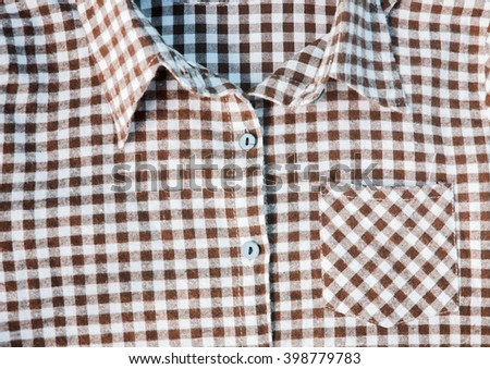Abstract Background Texture Of A Red And White Checkered shirt.  - stock photo