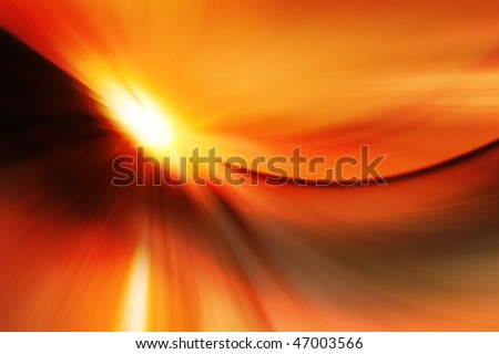 Abstract background that looks like sun shining over the desert. - stock photo