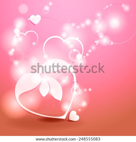 Abstract background. Valentines day.  - stock photo