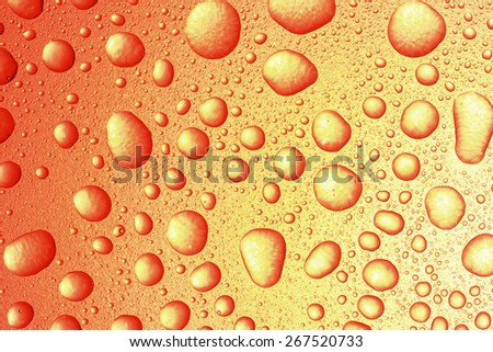 Abstract background, water drops on glass - stock photo