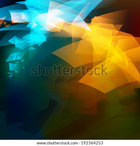 Abstract background water fire - stock photo