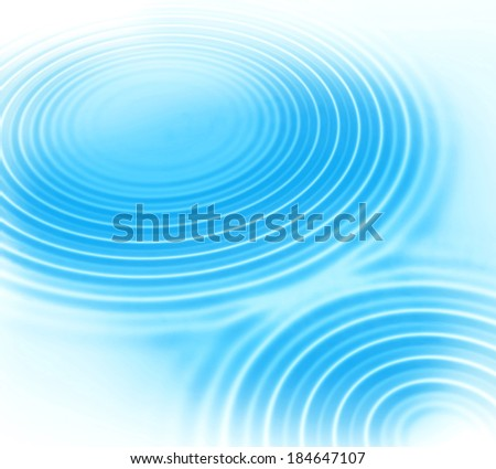 Abstract background with blue radial water ripples - stock photo