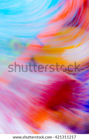 Abstract background with blurred flowing water mixed with oil - stock photo