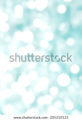 Abstract background with bokeh de focused lights and shadow green and white color. - stock photo