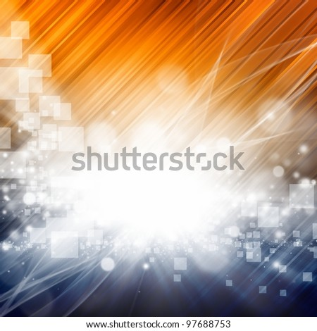 Abstract background with bright lights, diagonal lines - stock photo
