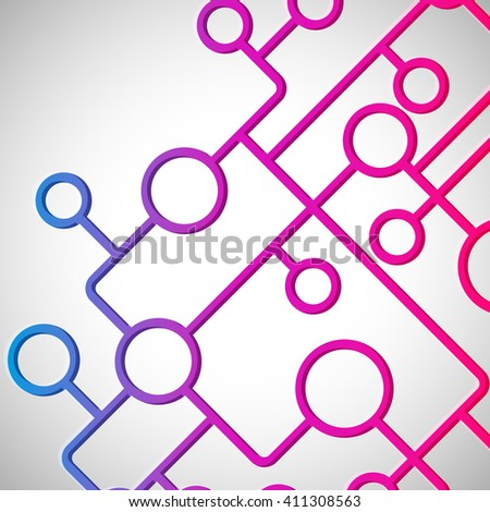 Abstract background with circles and lines design elements. - stock photo