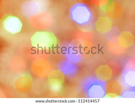 Abstract background with color heptagons - stock photo