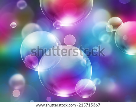 abstract background with colored soap bubbles - stock photo